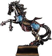 YANRUI Statua Di Cavallo Scultura Accessori Casa