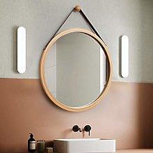 YANSW Specchio con Cornice in Bambù Rotondo