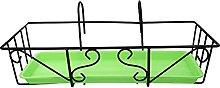 Yardwe 1 set di balcone appeso flowerpot ringhiera