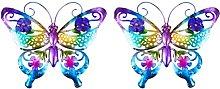 Yardwe 2Pcs del Metallo della Farfalla di Arte