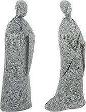 Yardwe 2Pcs Figurine Arenaria Spazzare E Pregare