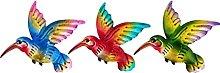 Yardwe 3Pcs Metallo Hummingbird Arte della Parete