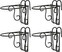 Yardwe 4Pcs Hanging Ringhiera Fioriera Cestini