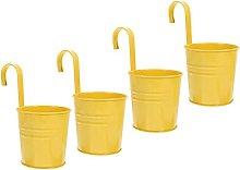 Yardwe 4Pcs Hanging Vasi di Fiori in Metallo