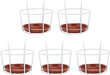 Yardwe 5 Set Appesi Ringhiera Fioriere Vaso di
