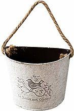 Yardwe Fioriera sospesa in Ferro Vintage Vaso da