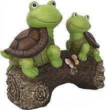 Yardwe Giardino Statua Turtles Figurine Luce del