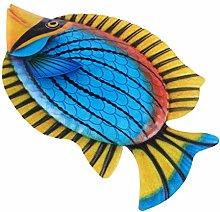 Yardwe Pesce Appeso A Parete di Ferro Scultura di