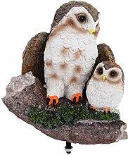 Yardwe Resina Gufo Figurine in Miniatura Mamma