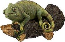 Yardwe Resina Verde Rana Figurine Rana Scultura
