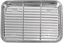 Yardwe - Set di 2 teglie da forno in acciaio inox