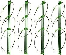Yardwe - Set di 4 tralicci di supporto per piante