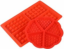 Yardwe Stampo per Waffle in Silicone 2 Pezzi