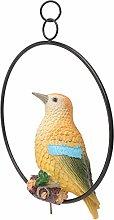 Yardwe Statuetta di Uccello Appesa Realistica