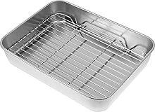 Yardwe - Teglia da forno in acciaio inox, con