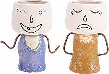 Yardwe Testa Fioriera Vaso di Fiori in Ceramica