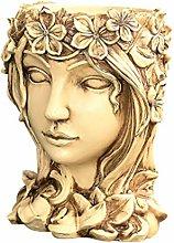 Yardwe - Vaso da fiori in resina con testa di