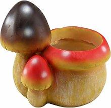 Yardwe Vaso di Fiori in Resina Fungo Succulente