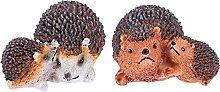 YARNOW 1 Paio Hedgehog Figurine Carino da Giardino