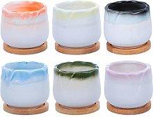 YARNOW 1 Set Ceramica Succulenta Vaso di Fiori di