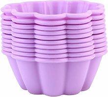 YARNOW 10 Pz Silicone Cupcake Teglia Forme di