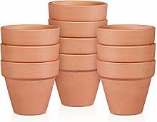 YARNOW 10Pcs Vasi di Terracotta di Terracotta da 2