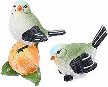 YARNOW 2 Pezzi Figurine di Uccelli in Resina