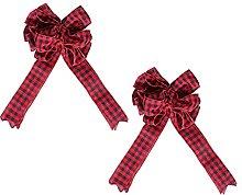YARNOW 2Pcs di Natale di Bowknot Decorazione