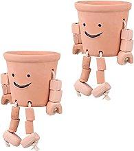 YARNOW 2Pcs di Terracotta Vasi di Ceramica