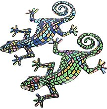 YARNOW 2Pcs Gecko del Metallo Decorazione di Arte