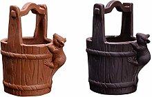 YARNOW 2Pcs Mini Vasi di Fiori di Ceramica Vaso di