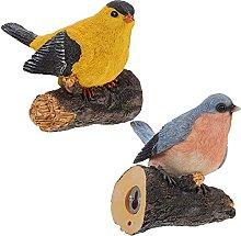 YARNOW 2Pcs Resina Uccelli Figurine Fata Giardino