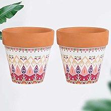 YARNOW 3. Vasi in Terracotta da 5 Pollici
