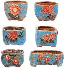 YARNOW 6Pcs di Stile dell'Annata di Ceramica