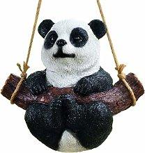 YARNOW Altalena in Resina Panda Statua da Giardino