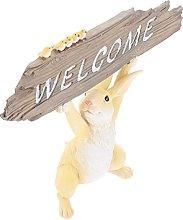 YARNOW Benvenuto Statua Segno Esterno Giardino