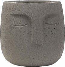 YARNOW Ceramica Viso Vaso di Fiori Cemento Viso