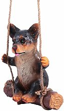 YARNOW Corgi Dog On Altalena Giardino Esterno Cane
