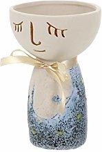 YARNOW Di Ceramica Succulente Vaso di Volto Umano