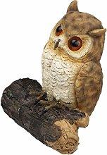 YARNOW Gufo Giardino Decoy Uccello del Gufo Statua