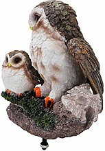 YARNOW Gufo Uccello Statua Figurine Animali