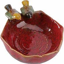 YARNOW Mangiatoia per Uccelli in Ceramica Rossa