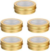 YARNOW Metallo Barattoli di Latta 5PCS Rotonda