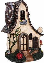YARNOW Miniature Garden House Mini Garden Statue