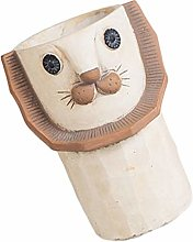 YARNOW Vaso di Fiori in Cemento a Forma di Leone