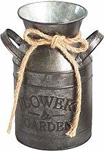YARNOW - Vaso per fiori vintage in ferro, per il