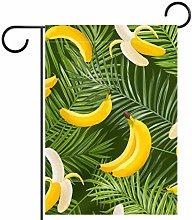YATELI Bandiera da Giardino 12 x 18 Pollici Banana