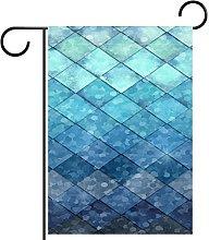 YATELI Bandiera da Giardino 28 x 40 Pollici Blu