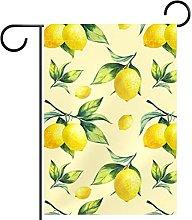 YATELI Bandiera da Giardino 28 x 40 Pollici Limone