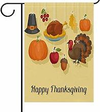 YATELI Garden Yard Flag Happy Thanksgiving Day